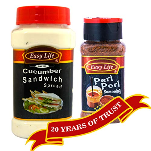 Easy Life Combo of Cucumber Sandwich Spread 315g & Peri Peri Seasoning 75g