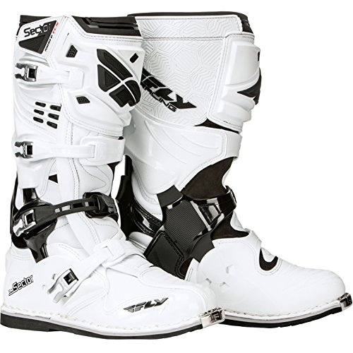 Fly Racing Motocross-Stiefel Sector Weiß Gr. 39-40 -