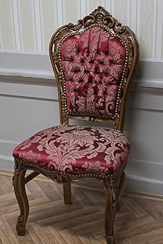 Salle à manger chaise, de style baroque, tissu