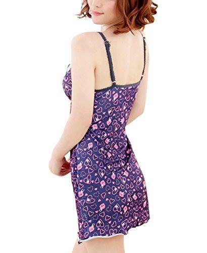Valin Fahion Floral Impression Lady Lingerie, Linge de maison, violet Violet