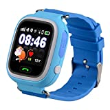 Bambini Smartwatch 1.22 pollici touch screen GPS Tracker SOS Anti-perso Bambini Orologio Finder sicurezza Monitor (Blu)