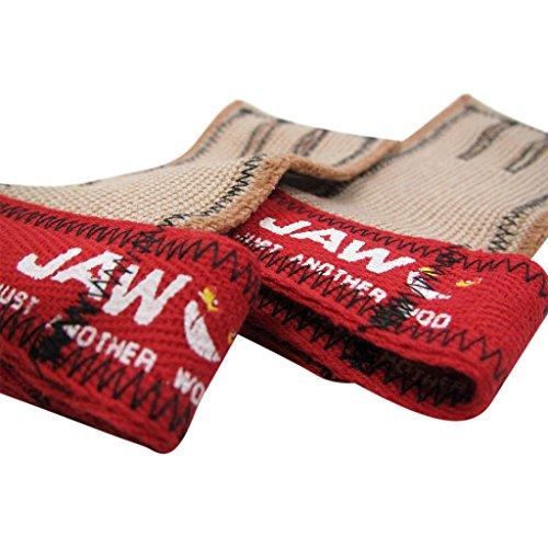 JAW, empuñaduras para dominadas, Rojo, Grande.