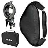 Godox SEUV 8080 80 X 80 cm Folding Softbox + S Type S-EC Flash Speedlite Holder for Elinchrom Berg + Bag portable Multifunctional