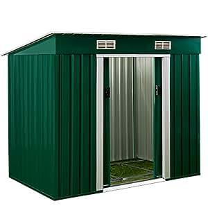 Deuba Tool Shed Metal Garden Storage House Free Aluminum