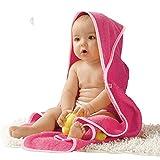 Baby Butt Kapuzenbadetuch pink Größe 100×100 cm - 2