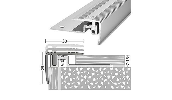 Escalier bords Profil en Aluminium PS 400/Argent 30/x 25/x 1000/mm