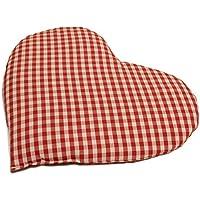 Kirschkernkissen Herz | ca. 30x25cm Bio Stoff rot-weiß | Wärmekissen | Körnerkissen Herzkissen | Ein charmantes... preisvergleich bei billige-tabletten.eu