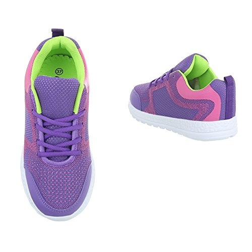Sneakers viola per donna Ital Design uxSMh1N