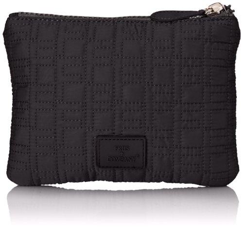 Friis & Company - Pochette Taluna Small Clutch, Donna, Nero (Noir (Black)), Taglia unica