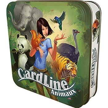 Asmodee CARANIM01 - Cardline Animaux - Version Mtal - Jeu Enfants