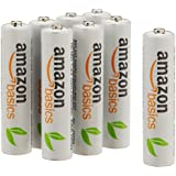 AmazonBasics Lot de 8 piles rechargeables Ni-MH Type AAA 1000 cycles à 800 mAh/minimum 750 mAh 1,2 V