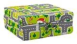 Klappmatratze Faltmatratze Reisebett SPIELSTRASSE | Mehrfarbig | Polyester | Baumwolle | 70x190 cm