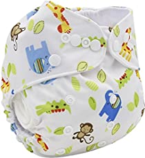 Mummamia Baby Cotton Cloth Diaper with 2 Inserts, 3-15Kg (Multi Color, MMCD00520K36)
