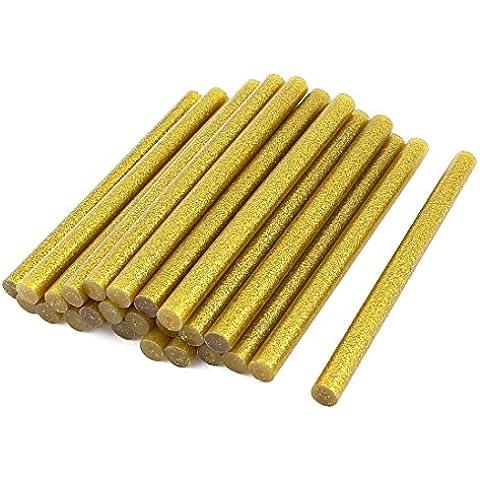 24 pezzi, colore: oro Glitter-Pistola per colla a caldo con bastoncini, 11 x 150 mm