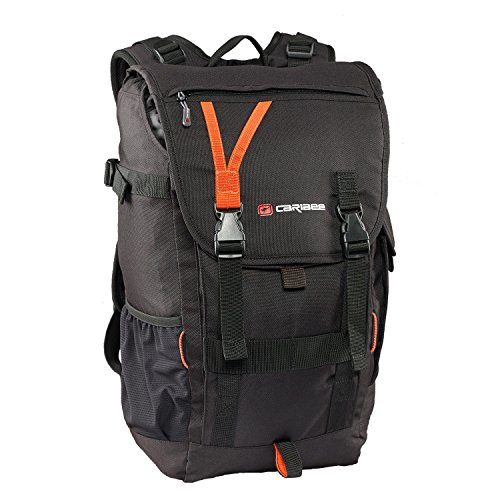 caribee-arrow-top-loading-daypack-backpack-with-padded-laptop-sleeve-black