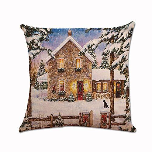 Lucky Mall Weihnachtsweihnachts-Weihnachtsmann-Kissen-Kasten Kissenbezug Car Home Decor Kissenbezüg - Sammlung Pailletten-jersey