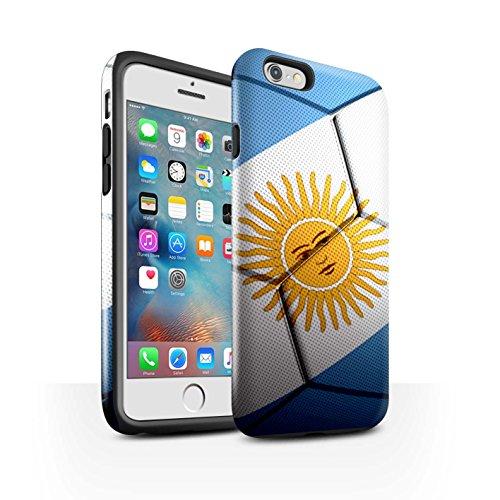 STUFF4 Glanz Harten Stoßfest Hülle / Case für Apple iPhone 7 / Italien Muster / Fußball Nationen Kollektion Argentinien