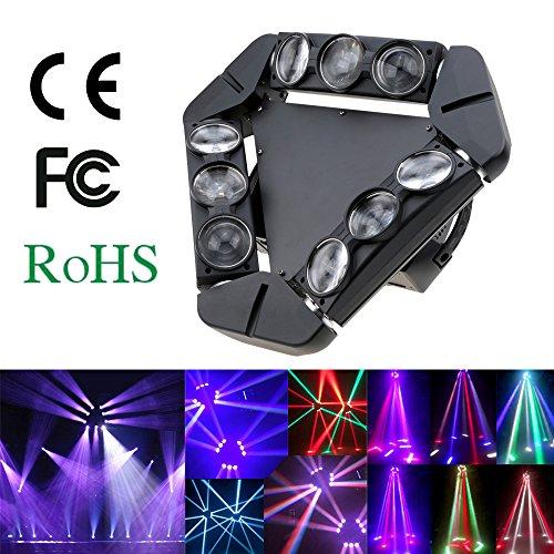 Lixada DMX512 LED fase luce Gobo modello lampada controllo audio automatico rotante...