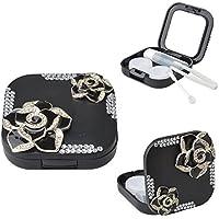 EVTECH (TM) in 3D con finti cristalli, con custodia porta lenti a contatto, con Kit (Personalizzato Lenti A Contatto)