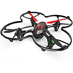 Hubsan H107C X4 Drone 0.3mp Camara Cuadridóptero (Rojo 480P)
