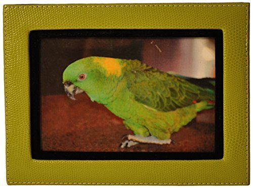 budd-leather-lizard-print-calf-photo-frame-4-by-6-inch-lime-green-by-budd-leather