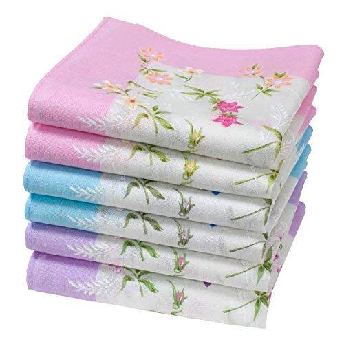 """Damentaschentücher aus Baumwolle - 6 Stücke - Modell \""""Abby\"""""""