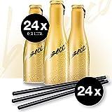 Justbe Lifestyle Drink - BeSecco in 24 x 20 cl Flaschen inkl. 24 Strohhalme, Prickelnder italienischer Perlwein als Aperitif