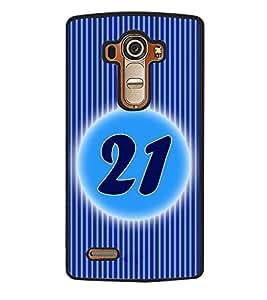 Fuson 2D Printed Numerology Designer back case cover for LG G4 - D4241