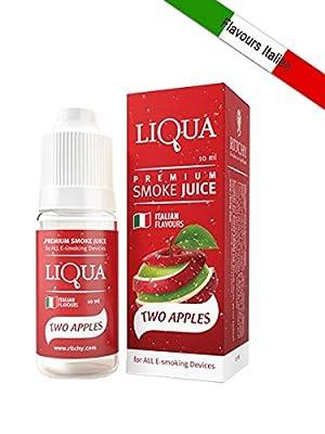 E-liquid LIQUA für Zigarette-e Geschmack doppelter Apfel [OHNE NIKOTIN] von RITCHY