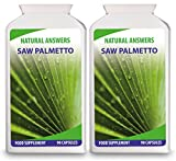 Saw Palmetto by Natural Answers - 180 Capsules 3 Month Supply - High Strength 1000mg Pills - Urinary Tract & Prostate Health Support for Men - Could also Help to Reduce the Rate of Hair Loss and Male Pattern Baldness - UK Manufactured by Natural Answers