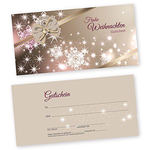50 Weihnachtsgutscheine Gutscheinkarten XMAS BEAUTY mit weißtransparenten Umschlägen für Kosmetikstudio Gutscheine Geschenkgutscheine
