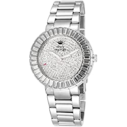 Juicy Couture Grove Women's Quartz Watch with Silver Dial Analogue Display and Silver Stainless Steel Bracelet 1901177
