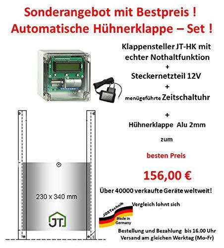 JOSTechnik Automatische Hühnerklappe JT-HK +Zeitschaltuhr+Klappe Hersteller!