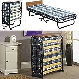 Best Folding Beds - mattressman-memoryfoam 2ft6 Single Folding Guest Bed with Headboard Review