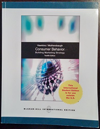 Consumer Behavior: Building Marketing Strategy (Int'l Ed) by Delbert I Hawkins (2012-04-01)