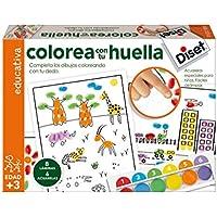 Diset - Juego para colorear con tu huella (63419)