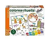 Diset Juego educativo para niños para colorear con su huella y aprender los colores