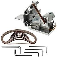 Bebliss Mini DIY Polishing Machine Grinding Bench Electric Belt Sander, 4500-9000RPM (Adjustable), for Belt:330 * 10mm / 13.0 * 0.4in (60/80/ 120/150/ 180/240/ 320/400/ 600/800 grit)