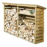 Large Wooden Log Store for Firewood Log Storage Best Review Guide