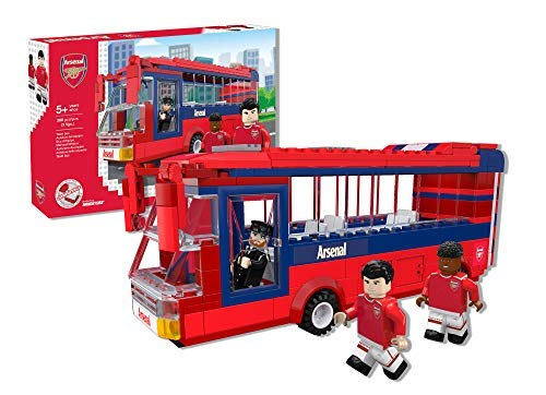Paul Lamond 7754 Nanostars Arsenal FC Team Bus 3D Puzzle Set, rot