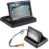 Pliez dans le tableau de bord Vue arrière de la voiture Lecteur de vidéo à écran LCD inverse avec écran d'affichage HD de 5 pouces pour l'assistance de véhicule de caméra de recul