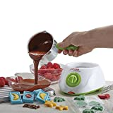 Cooks Professional Electric Chocolate Fondue Melting Pot, Warmer, Chocolatier, Cheese Melter, Includes Spatula