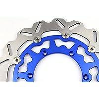 Avant de 320mm ondulée flottant disque de frein Rotor pour Yamaha Yzf250Yzf450Super motard Bleu