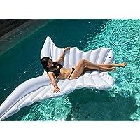 DEBRIS TIME - Inflador hinchable de alas de ángel flotante, diseño de mariposas, blanco