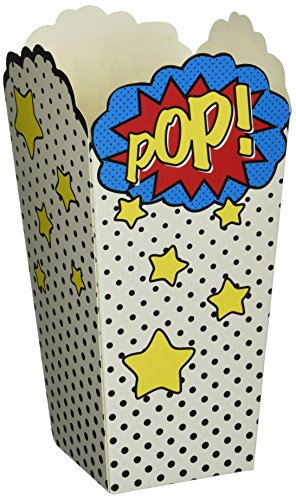 Ginger Ray POP Superhero Party Popcorn Party Boxen - Comic Superhelden