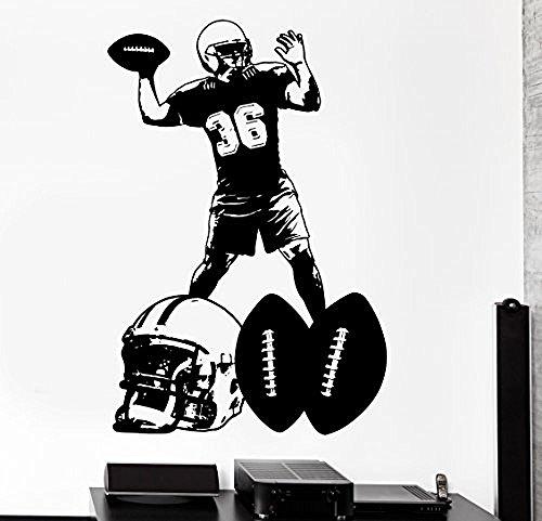 GGWW Wall Sticker Sport American Football Super Bowl Vinyl Decal (Z3027)