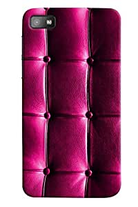 Omnam Purple Quilting Effect Printed Only Dwsigner Back Cover Case For BlackBerry Z10