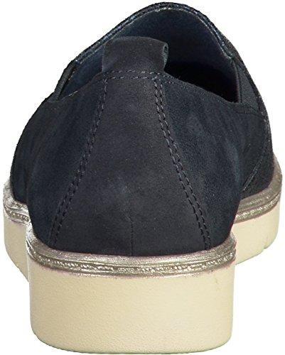 Pistone di signore blu navy Tamaris sul cuoio formato 36 a 41 slip Blau(Navy)