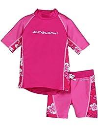 Zunblock Hibiscus Ensemble de protection solaire enfant Haut MC + short Cerise/Milkshake 98/104