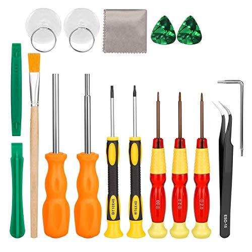 SODIAL 17 In1 Professioneller Voll Sicherheits Schraubendreher Spiel Bit Reparatur Werkzeug Kit Für Schalter/Joycon,Neue 3Ds Und Wii/Nes/Snes/Ds Lite/Gba/Gamecube
